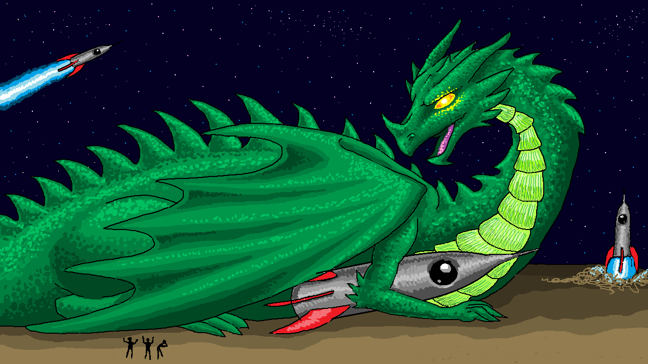 Dragon stole my spaceship by Loddebolt