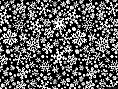 Tileable winter snowflake background