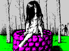 Samara in the forest of Slenderman
