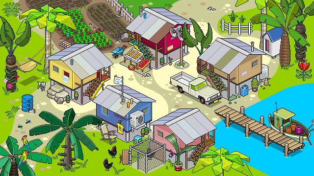 Shp village reconstructed 05k by eBoy